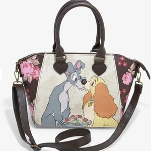 NWT Loungefly Lady & the Tramp Satchel
